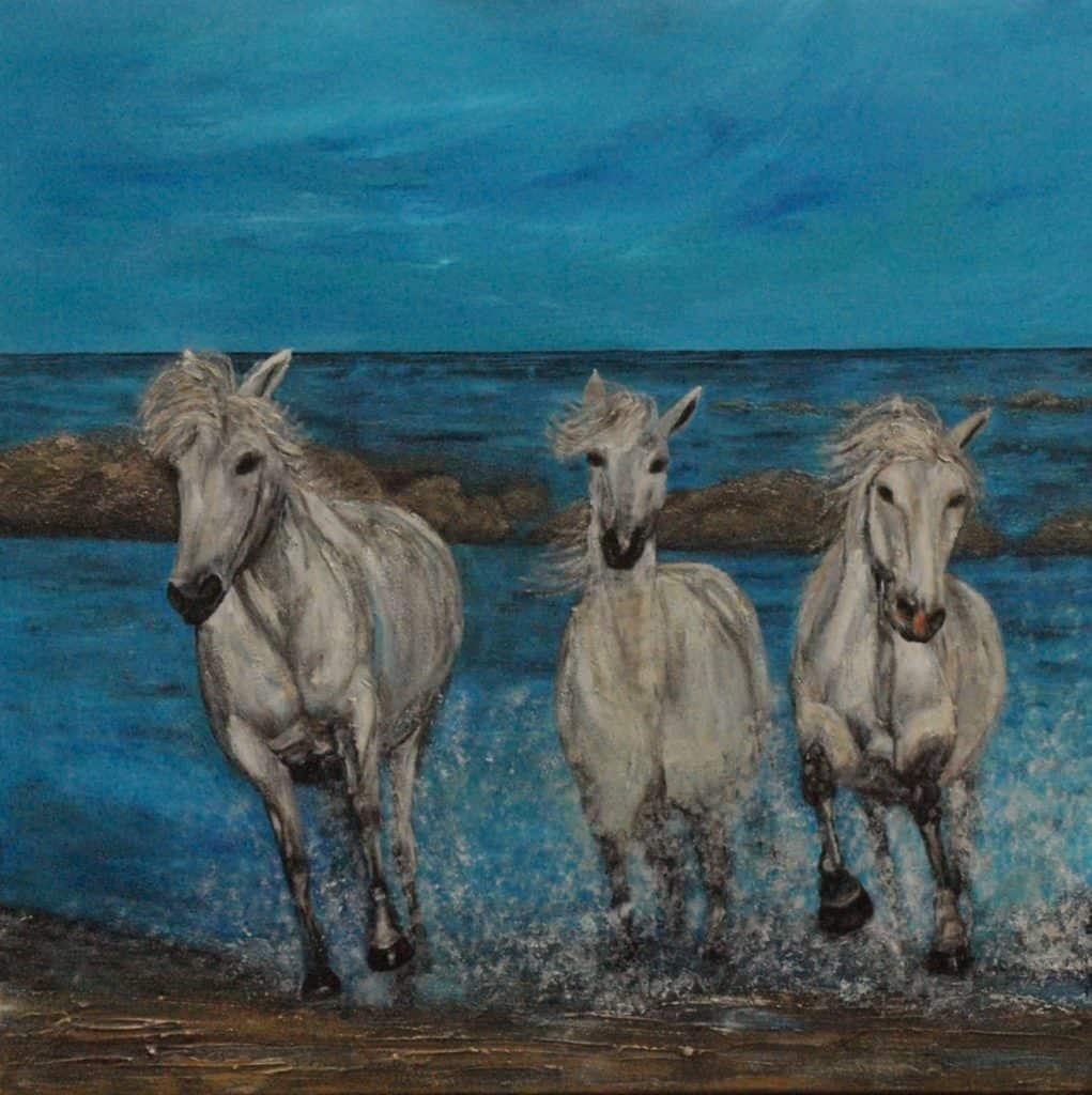 Jenny Nes - In galop 80 X 80