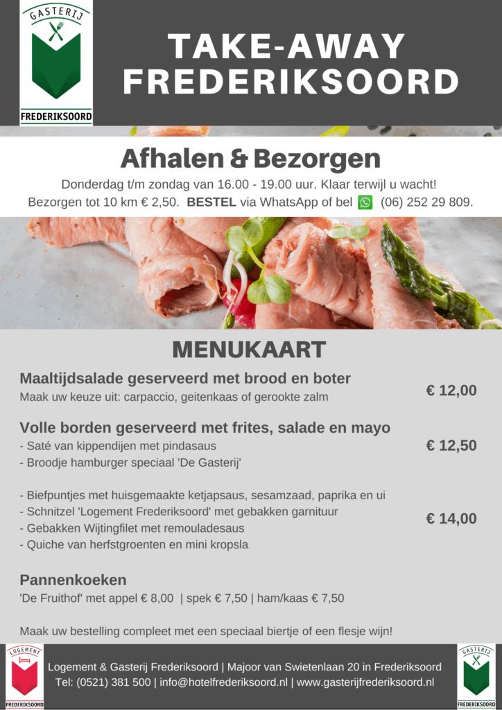 Gasterij Frederiksoord afhalen afhaalmenu restaurant