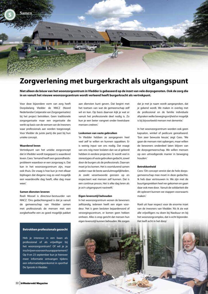 Pagina 3 Woonzorgcentrum Vledder InWesterveld Magazine sept 2020