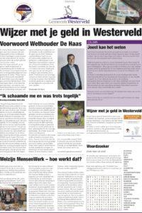 Informatiepagina Wijzer met je geld in Westerveld