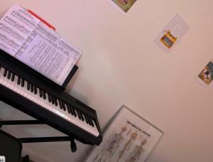 lotte dinkla, electrische piano