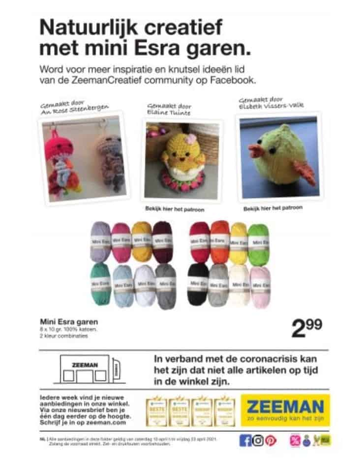 Advertentie Zeeman met Annies Haakwerkjes