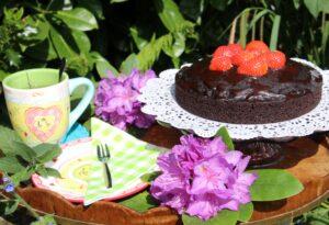 tuinieren met de buren - taart en thee