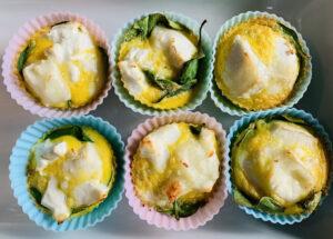 Ei muffins met spinazie en geitenkaas