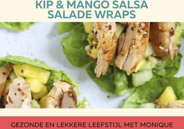 kip & mango salsa salade wraps